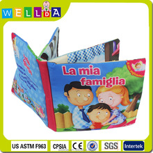 Fun educational book soft fabric cloth books for kids