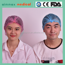 certificate approved Medical disposable surgical spunlace scrub caps, nurse hat, bouffant caps