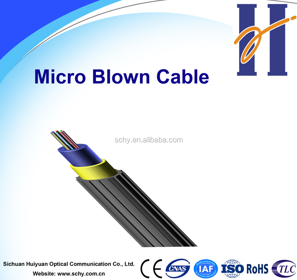 2, 4, 6, 8, 12 Core Air Blown FTTH Micro Optical Fiber Cable/Fibre Optic Cable