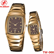 For lover's jewelry tungsten steel cute couple watch for wedding gifts