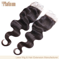 body wave 100%peruvian virgin hair lace closure with high quality