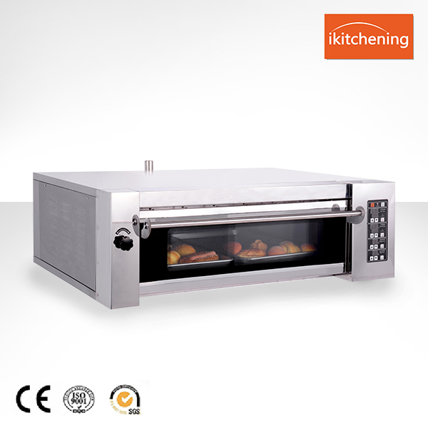 Whole Body Stainless Steel Gas Deck Oven / Pizza Oven With Steamer