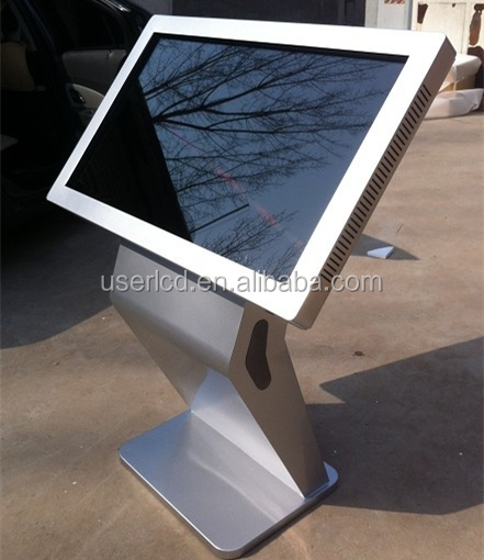 Best quality airport station 32inch hd vertical lcd panel stand advertising display free standing lcd advertising displa