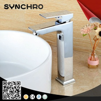 Long brass body single handle bathroom basin faucet