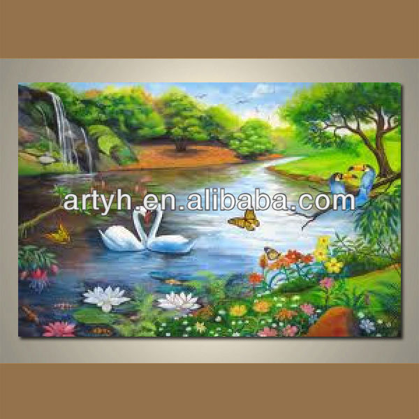 2013 Hot order handpainted living room colorful popular picture on canvas