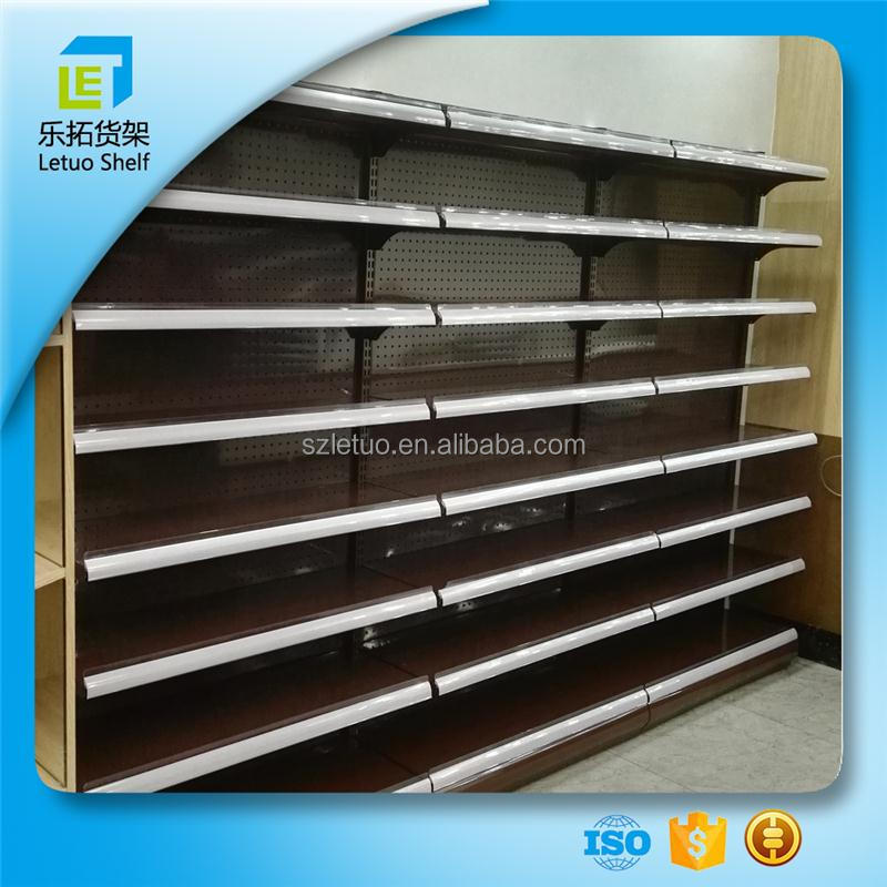 2017 Letuo store lighted display shelves storage cabinets shelves metal shelves for bread for wholesales