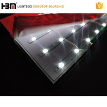 diffuse reflection bonding wire led strip rigid back light 2835 lattice bar for backlit fabric lightboxes