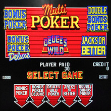 New Slot Game Multi Poker 5 in 1 Casino Gaming Board video poker boards