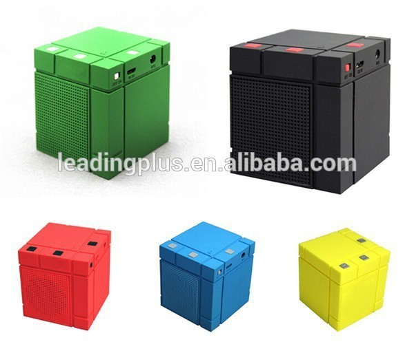 New Mondria Cube Shaped Portable Bluetooth Mini Speaker,wholesale Classic Mini Speaker