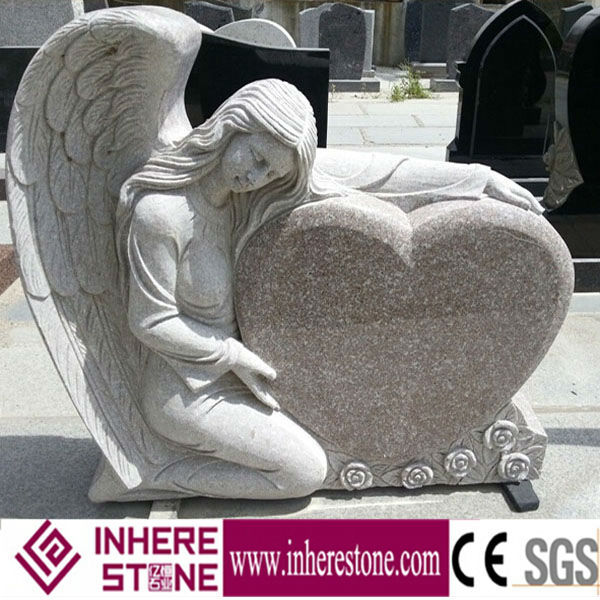 G664 granite monument angel design