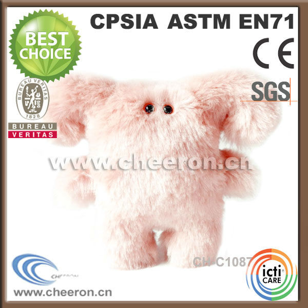 Customized high quality soft fluffy monster doll