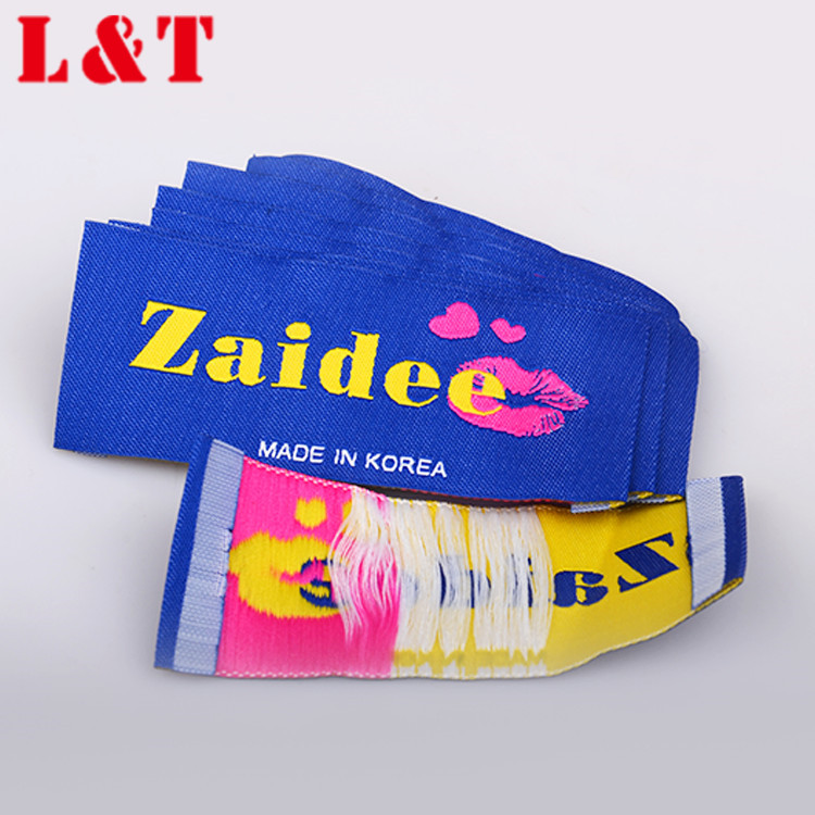 MOQ design personalized woven jeans labels