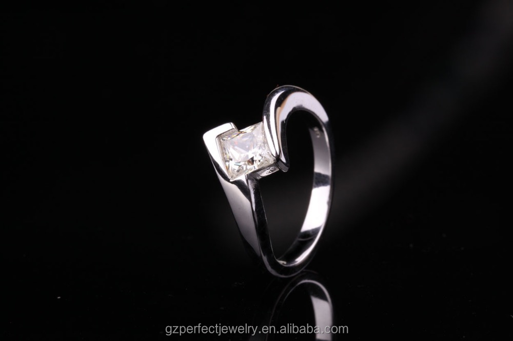hot sale sterling silver ring engagement and wedding ring sure shape cz