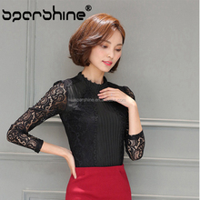 2017 Fancy Lady Beautiful Women Blouse Lace Blouses For Fat Ladies