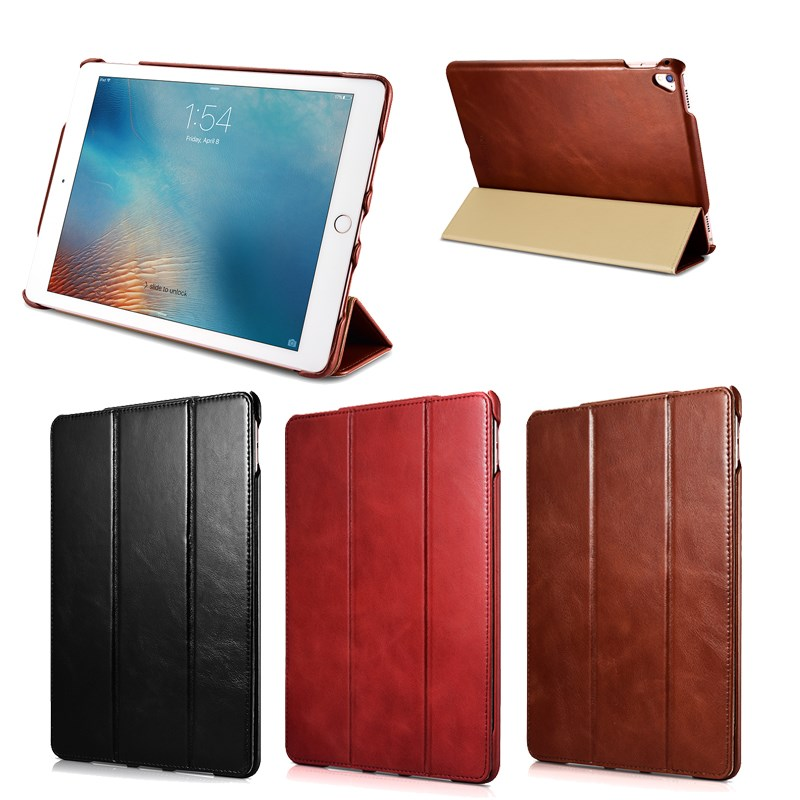 Retro first layer cowhide genuine leather case for iPad Pro 9.7 with sleeping function,for ipad covers
