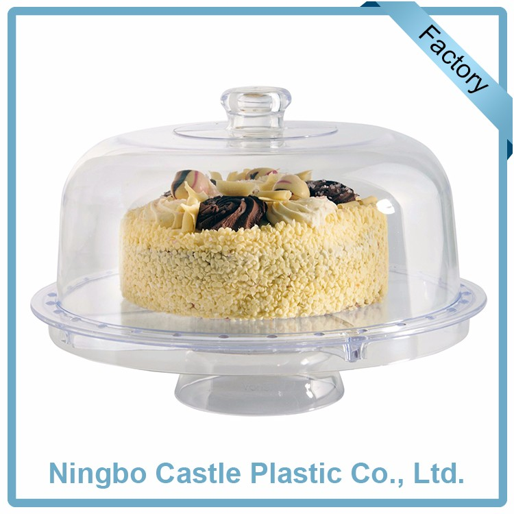 Food Serving Dishes Wholesale Plastic Table Top Rotating Cake Display
