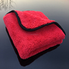 Super Soft Car Care Auto Detailing Buffing Polishing Wash Cleaning Cloth Red Plush 800gsm Microfiber Towel for Car Detailing
