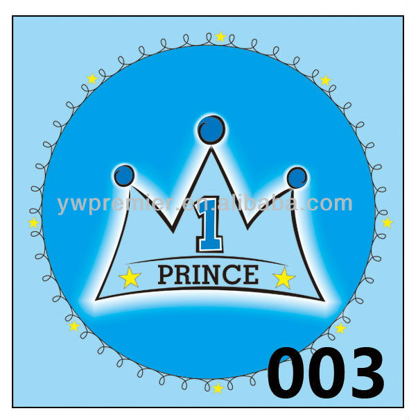 Blue prince one year birthday party plate