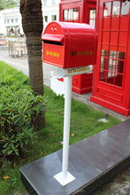 Foshan JHC-1022 Post Mounted Aluminum Mailbox/Four Color Decorative Letterbox/Outdoor Durable Standing Postbox For Garden