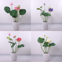 decorative artificial floating lotus flower cheap artificial lotus flowers for wedding decor