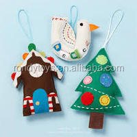 Wall Hanging Felt Christmas themed tree ornaments