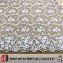 HC-0955 HeChun mesh bridal lace and 3d flower lace for wholesale