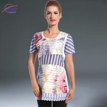 Stylish Paper Print Stable Color Top Quality and Fashion Shirt for Women