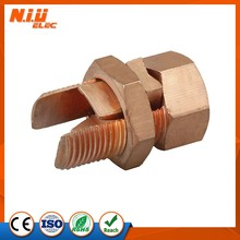 Factory price TJ copper split boltcustom high precision brass split bolt/ split bolt connector