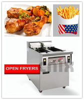 stainless steel hot food vending machine multipurpose deep fryer