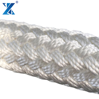 40 mm Black Nylon Double Braid Rope use for towing ship