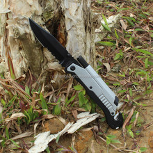 Best Tactical Folding Knives with LED Light And Seatbelt Cutter And Fire Starter