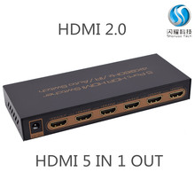 Latest HDMI Switcher 5x1 5in 1 out 4K/60Hz Support HDCP 2.2 HDMI 2.0,5 port hdmi switch