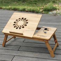 portable computer desk wooden bamboo laptop bed desk as seen on TV