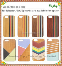 for apple iphone Natural Bamboo Colored Wood Stripe Back Case For i phone 6