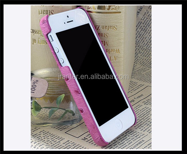 Back Cover For iPhone6S Genuine Ostrich Leather Cell Phone Case For Apple iPhone 6