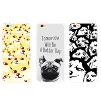 Lovely dog picture tpu cell phone cases for iphone 6/6s/6plus