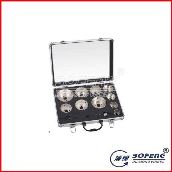 Good Using High Quality Aluminum Box 13 pcs Set Diamond Hole Saw
