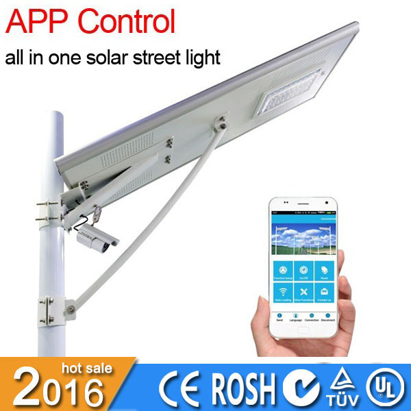 30w all-in-one IP65 waterproof integrated stand alone solar street light