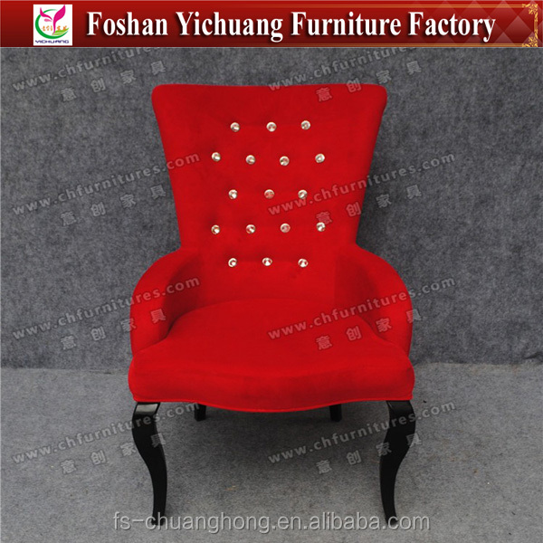 Elegant and high-grade Living room furniture ,Crystal design chair, sex sofa chair YC-F055