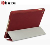 New Arrival Folding Flip Leather Smart Stand Cover leather Protective Case for iPad