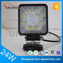 Directly manufacturer square driving lamp off road accessories aldi led work light 24w agriculture vehicles work light