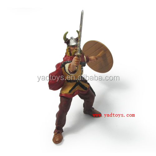 small size warrior statue custom plastic action figure, wholesale miniture action figure toys