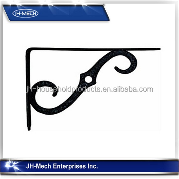 Ornamental stainless steel wall bracket support