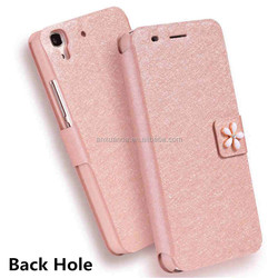 Original Filp PU Leather Case For Huawei Honor 4A Fashion Rhinestone And Luxury Camellia