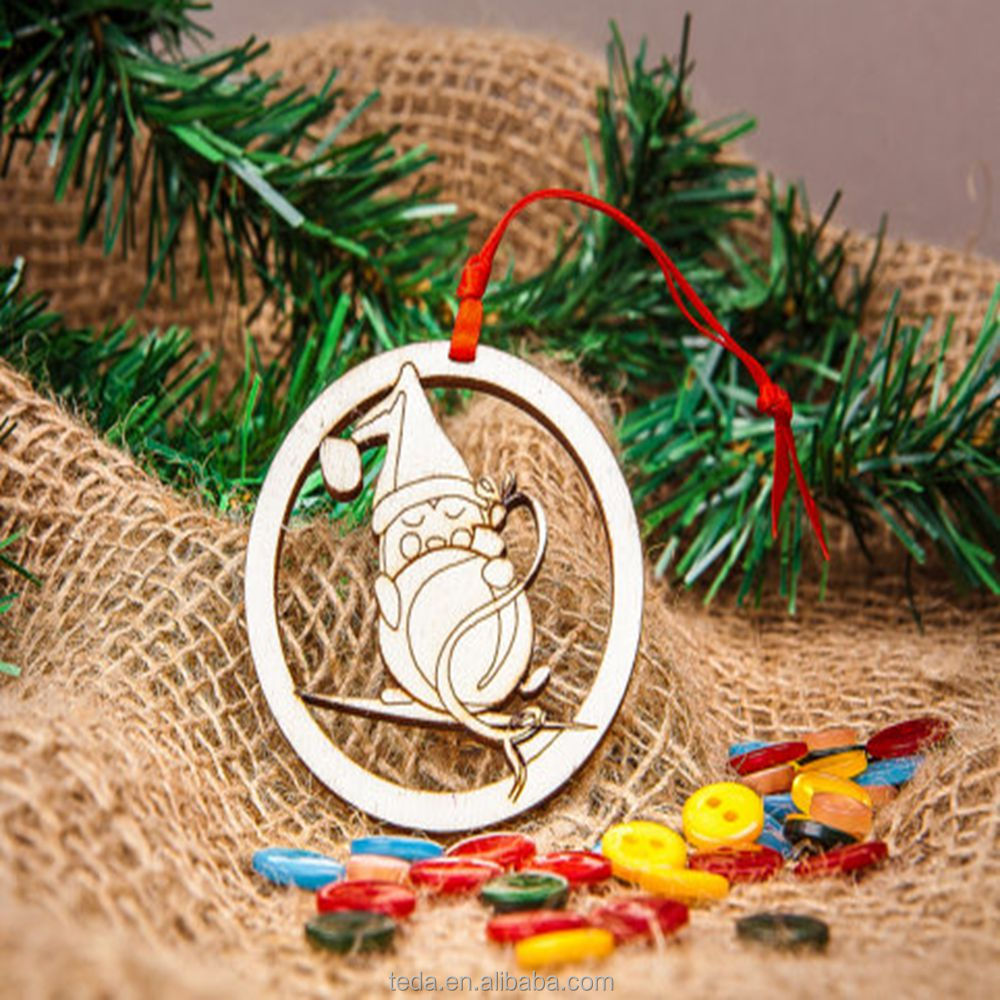 Wooden Christmas penguin ornament for your home decor