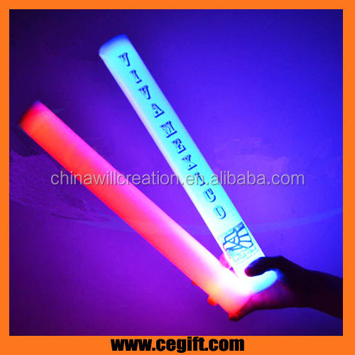 led foam sticks flashing glow light up wands