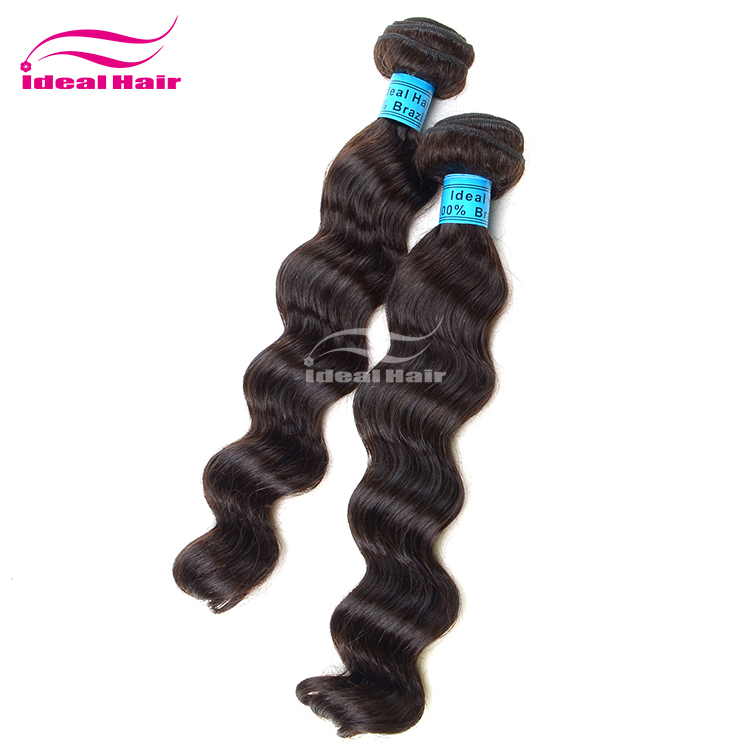 Best Seller factory price stock 100% human virgin remy hand tied brazilian hair weft