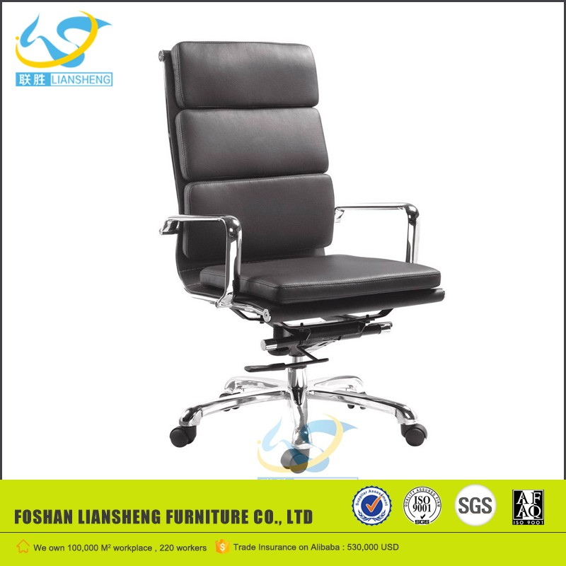 soft black 3 padded charles emes chair office product