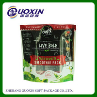 Wholesale Gravure Printed Standing Opp Plastic Bags with zipper
