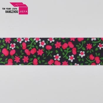 Printing coated nylon ribbon on webbing rolls